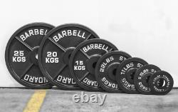 2 Olympic Weight Plates Cast Iron Training Disc Home Gym Lifting