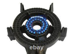2 Ring LPG Gas Burner Cast Iron Cooker with Hose + Regulator BBQ Camp Stove Wok