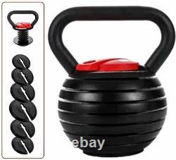 3Kg-18kg Adjustable Kettlebell Cast Iron Home Gym crossfit Fitness Kettle Bell