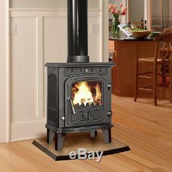 4.5KW Greetwell Modern Multifuel Log Burning Cast Iron Wood Burner Stove New
