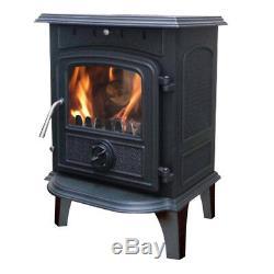 4.5KW Woodburning Stove High Efficient Cast Iron Log Burner Multifuel Fireplace