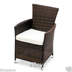 4 X Rattan Garden Furniture Dining Chairs Set Outdoor Patio