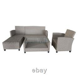6 Seater Garden Rattan Set Sofa Furniture Dining Chairs Table Outdoor