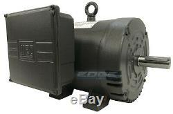 7.5 HP Single Phase Electric Motor 184t Frame Odp 3510 RPM 208-230 Volts Weg