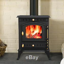 7.5KW Navenby Multifuel Woodburner Stove Wood Burning Burner Fire Cast Iron