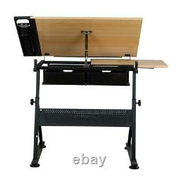 Adjustable Drafting Table Art Craft Drawing Board withStool Architect Desk Stand