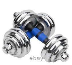 Adjustable Dumbbell 20Kg 30Kg Weights Set Chrome Cast Iron Home Gym