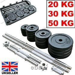 Adjustable Dumbbells 20Kg 30Kg 50 Kg Cast Iron Weights Barbell Set Dumbells New