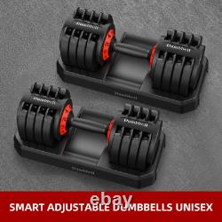Adjustable Dumbells 2x20kg PAIR SET (40kg total)
