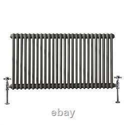 Anthracite Traditional Cast Iron Style Horizontal Radiator 2 Column 600x1190 mm