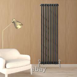 Anthracite Traditional Radiator Vertical Horizontal 3 Column Cast Iron Style Rad
