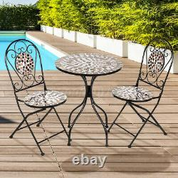 Bistro Set Outdoor Patio Garden Furniture Dining Kitchen Table Folding Chairs L