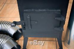 Black Woodburning Stove Log Burner Workshop Heater