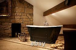 Bransdale'rivet' freestanding Cast Iron Roll Top'Bateau' Bath 1700mm