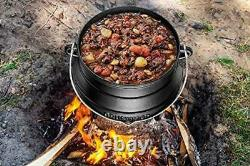 Bruntmor Pre-Seasoned Cast Iron Potjie African Pot 7-Quart