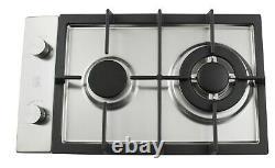 Built In Gas Hob 2 Burner Caravan Cooker Double Cooktop Stainless Steel 302S UK