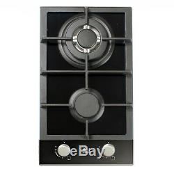 Built In Gas Hob 2 Double Burner Wok Support Cooktop Cooker LPG NG Domino-302G
