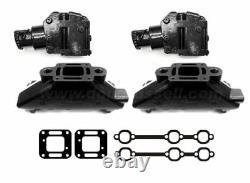 CAST IRON MerCruiser 4.3 V6 Exhaust Manifold & Riser Kit package elbow mercury