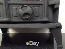 CASTMASTER LUDLOW WOOD BURNING LOG BURNER DOUBLE DOOR CAST IRON STOVE 7kw BLACK