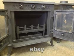 CASTMASTER WOOD / MULTIFUEL STOVE C/W WRAP AROUND INTERNAL BACK BOILER @12Kw