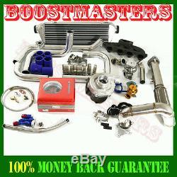 Cast Iron Manifold 0.63 T3/T4 Flange Turbo + intercooler Turbo Kit FITS B16/B18