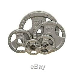 Cast Iron Olympic Weight Plates Home Gym Weights Training Discs Bar Lifting 2