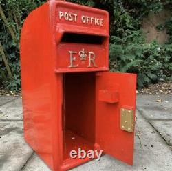 Cast Iron Royal Mail Post Office ER Red British Post box Letter Box