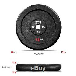 Cast Iron Weight Plates Free Weights 1 Disc Dumbbell Barbell Bar Weight Fitness