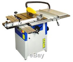 Charnwood W629 10'' Cast Iron Table Saw with Sliding Carriage