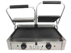 Chef-hub Double Sided Commercial Panini Press Electric Twin Contact Grill
