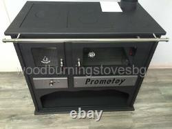 Cooking Wood Burning Stove Fireplace Oven Cast Iron Top Cooker Prometey LUX 11kw
