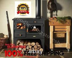 Cooking Wood Burning Stove Oven Cooker Fireplace Cast Iron Top Prity 1P34L10kW
