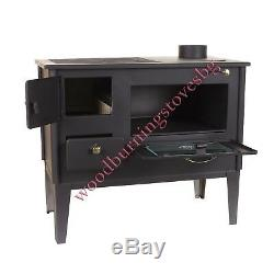 Cooking Woodburning Stove Oven 1/2 Cast Iron Top Glass Cooker Prometey New 7 kw