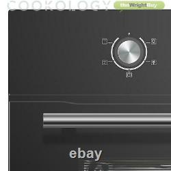 Cookology COF600BK 60cm Black Built-in Single Electric Fan Forced Oven & timer