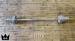 DUMBBELLKING 50kg Adjustable Chrome Plate CAST IRON Dumbbells+1 year Warranty