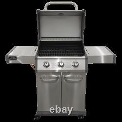 Dellonda 3 Burner Gas BBQ, Piezo Ignition, Thermometer, Shelves, Castor Wheels