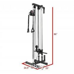 Doublewin Wall Mount Cable Station Pull Down with Adjustable Dual Pulley System