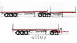Drake Maxitrans Freighter B Double & Road Train Trailer Red & Silver 150