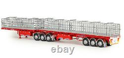 Drake ZT09259 AUSTRALIAN Maxitrans Freighter B Double Trailer Set Red & Red 150
