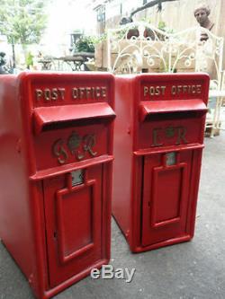 ER Royal Mail Post Box Cast Iron Post Box Post Office Box Red British mail box