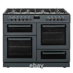 ElectriQ 100cm Dual Fuel Range Cooker Slate Grey