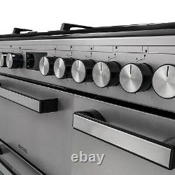 ElectriQ 90cm Dual Fuel Triple Cavity Range Cooker Stainless Steel IQRANGE90SS