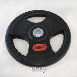 FREE DELIVERY 2 x 20kg Weight plates Rubber/Iron fit 50mm Olympic barbell