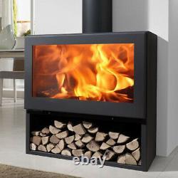 Fenix Wood Burning Multi-fuel Contemporary Stove with Log Storage