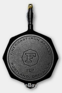 Finex Cast Iron 12 Eight Side Skillet Cooking Pan NEW