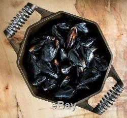 Finex Cast Iron 5 Qt Dutch Oven Cooking Pot with Heavy Gauge Cast Iron Lid NEW