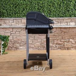 Fire Mountain Everest 2 Burner Gas Barbecue in Stainless Steel & Black