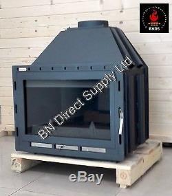 Fireplace Insert Inset Wood Burning Stove Log Burner Built In 14 -21 kw SENATOR