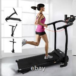 Folding Incline Electric Treadmill Running Cardio Machine with IPAD Mobile Holder