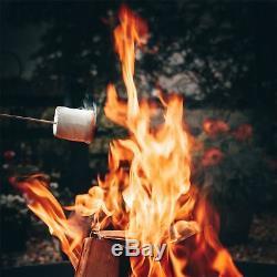 Garden Fire Pit, Cast Iron Brazier Style Flame Basket, 60cm